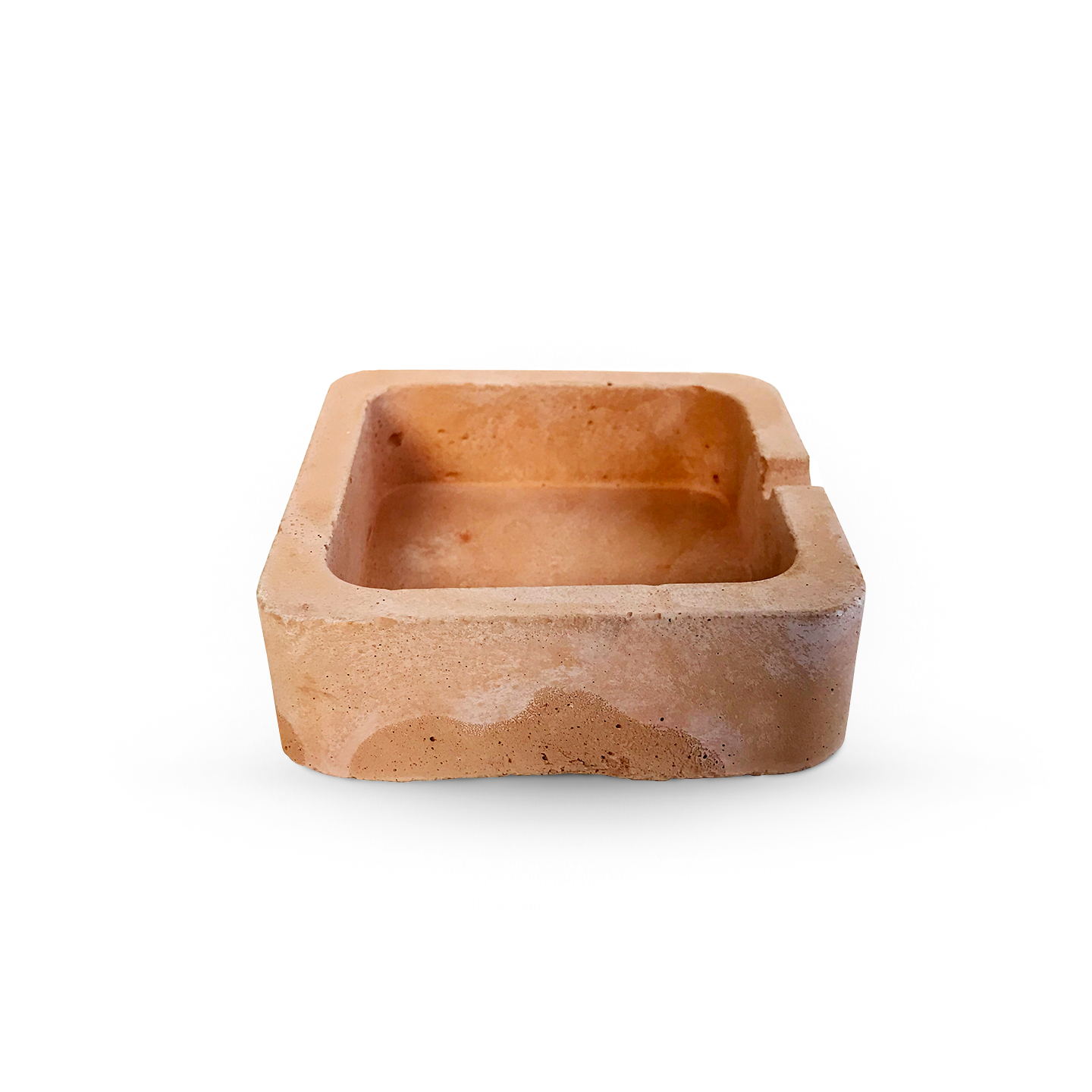 Baccala - Magazine - Products - Handmade Square Ashtray - Terracota