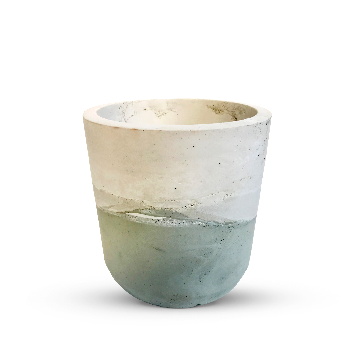 Baccala - Magazine - Products - Handmade Planter - Teal/Natural